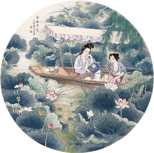 Un'opera di Zhao Zhimin - divinità femminili