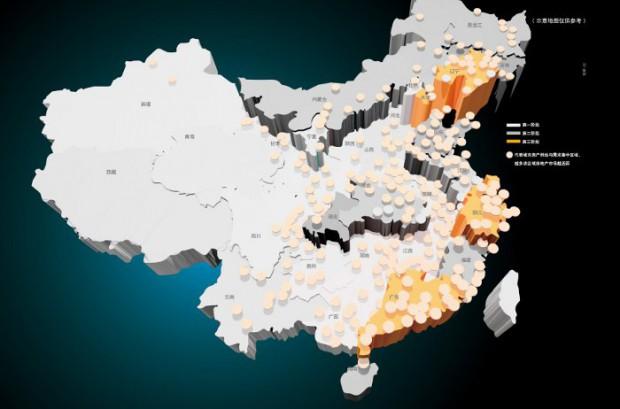 Mappa delle zone a maggiore concentrazione di imprese di costruzione