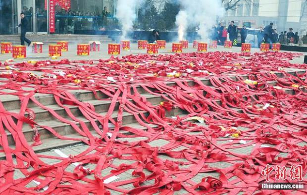 Capodanno cinese: petardi augurali
