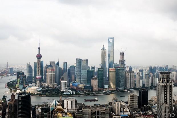 Shanghai - Vista di Pudong dal Bund