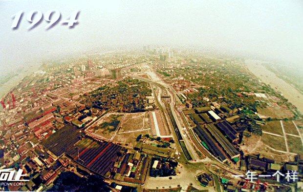 L'area di Lujiazui a Shanghai nel 1994