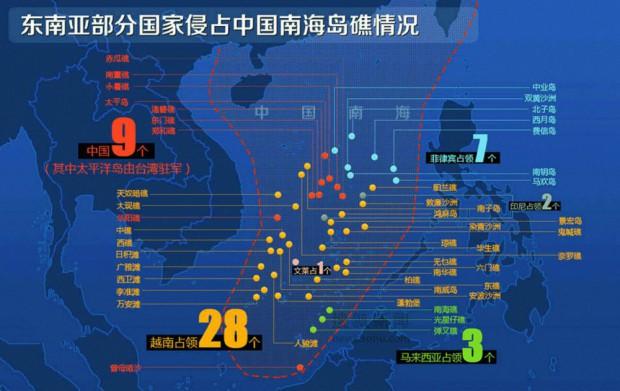 Dispute territoriali nel mar cinese