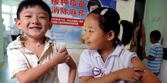Bambini vaccinati