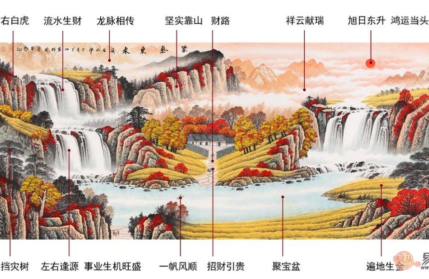 Quadro con elementi del fengshui