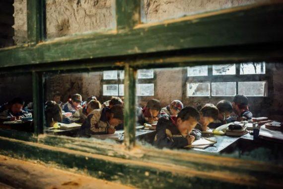Una classe nel Gansu